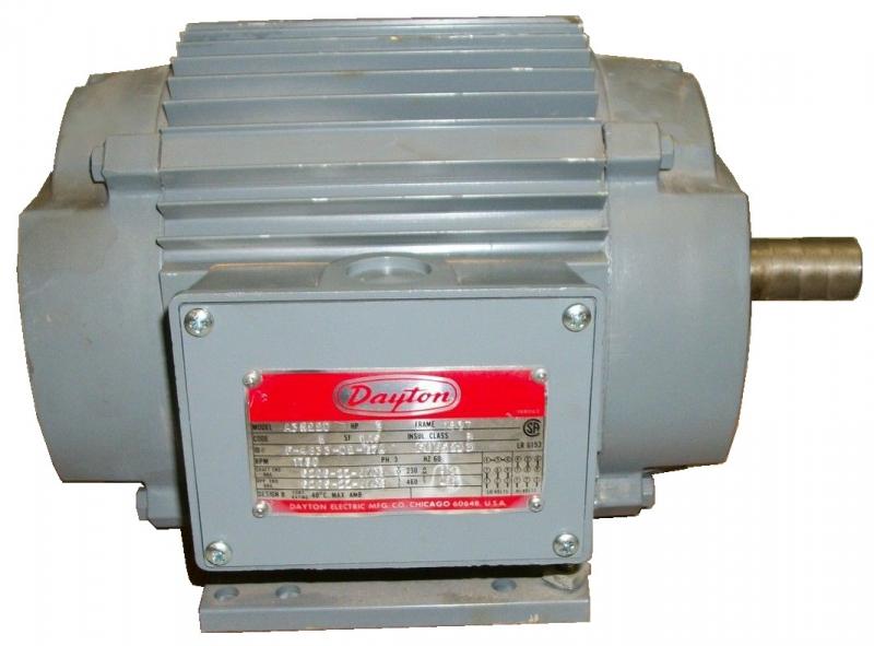 Dayton a3n220 3 hp motor repair motor repair rewinds for Dayton gear motor catalog