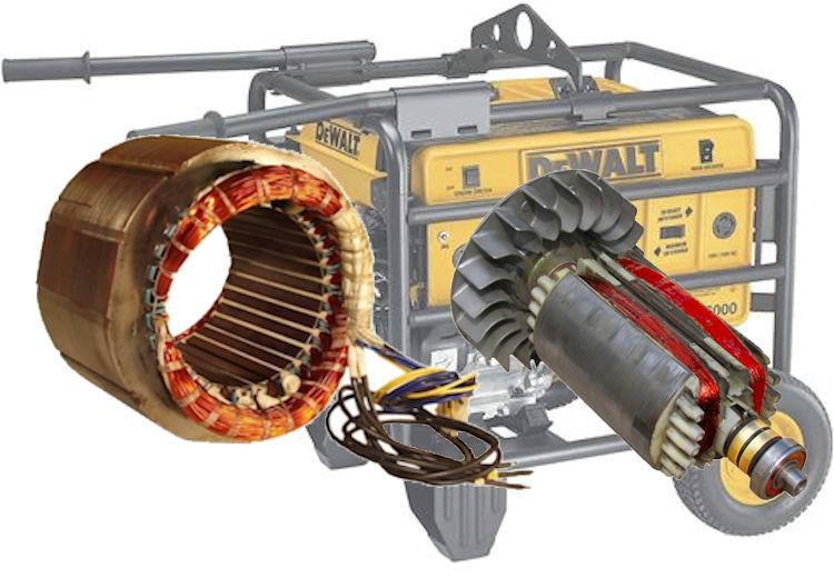Dewalt 5140005 11 7000 Watt Generator Rotor Rewind Motor
