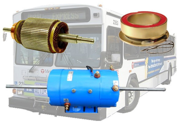 Electric motor repair transit bus motor repair for Small electric motor repair parts