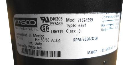 Fasco 71624599 X Ray Motor Repair Amp Rewinds Eurton