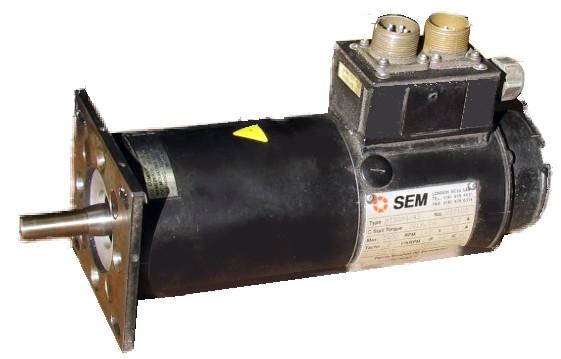 sem bridgeport mt30h4 44 servo motor repair motor