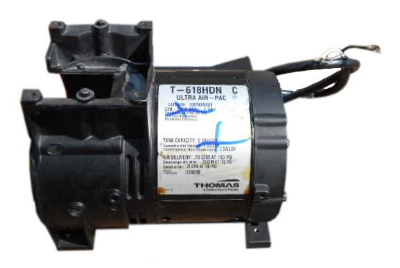 Thomas T 618hdn Air Compressor Pump Motor Repair